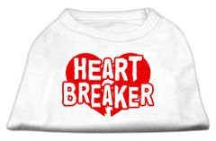 Dog Shirts: HEART BREAKER Screen Print Dog Shirt in Various Colors & Sizes by Mirage