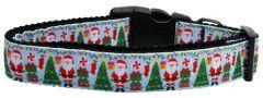 Holiday Nylon Dog Collars: Nylon Ribbon Collar by Mirage Pet Products - AQUA SANTA USA