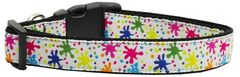 Dog Collars: Nylon Ribbon Collar by Mirage Pet Products USA - SPLATTER PAINT