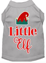Dog Shirts: Christmas Screen Print Dog Shirt in Various Colors & Sizes by MiragePetProducts - LITTLE ELF