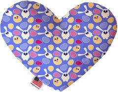 PET TOYS: Soft Velvety Fabric Heart Shape Pet Toy CHICKS AND BUNNIES in Two Sizes Made in USA by MiragePetProducts