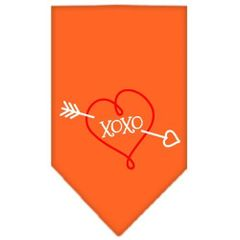 Dog Bandanas: Screen Print Cotton Dog Bandana 'XOXO' Different Colors in Small or Large by Mirage USA