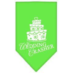 Dog Bandanas: Screen Print Cotton Dog Bandana 'WEDDING CRASHER' Different Colors in Small or Large by Mirage USA