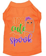 Dog Shirts: Halloween Screen Print Dog Shirt in Various Colors & Sizes by MiragePetProducts - TOO CUTE TO SPOOK GIRLY GHOST