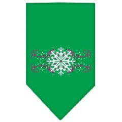 Dog Bandanas: Screen Print Cotton Dog Bandana 'PINK SNOWFLAKE SWIRLS' Different Colors in Small or Large by Mirage USA