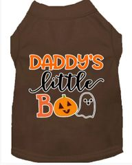 Dog Shirts: Halloween Screen Print Dog Shirt in Various Colors & Sizes by MiragePetProducts - DADDY'S LITTLE BOO