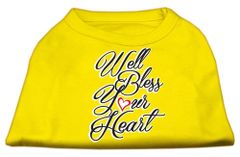 Dog Shirts: Valentine Screen Print Dog Shirt in Various Colors & Sizes by MiragePetProducts - WELL BLESS YOUR HEART