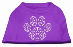 Dog Shirts: HENNA PAW design Screen Print Dog Shirt in Various Colors & Sizes by Mirage
