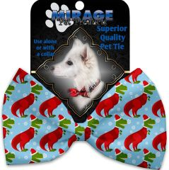 DOG BOW TIE: Decorative & Classy Silky Polyester Bow Tie for Dogs - CHRISTMAS T-REX