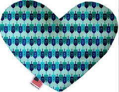PET TOYS: Soft Velvety Fabric Heart Shape Pet Toy - DREIDEL, DREIDEL, DREIDEL in 2 Sizes Made in USA by MiragePetProducts