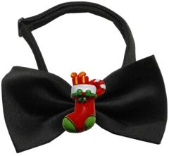 Dog Bow Ties: Chipper Christmas Bow Tie with Choice of Christmas Decoration by Mirage