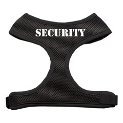 "Dog Harnesses: Screen Print - ""SECURITY"" Soft Mesh Dog Harness in Several Sizes & Colors USA"