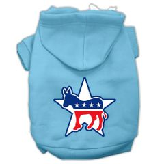 Dog Hoodies: DEMOCRAT Screen Print Dog Hoodie in Various Colors & Sizes by MiragePetProducts