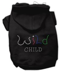 Dog Hoodies: WILD CHILD Rhinestone Dog Hoodie by Mirage Pet Products USA