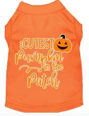 Dog Shirts: Halloween Screen Print Dog Shirt in Various Colors & Sizes by MiragePetProducts - CUTEST PUMPKIN IN THE PATCH