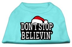 Dog Shirts: DON'T STOP BELIEVIN' Screen Print Dog Shirt in Various Colors & Sizes by Mirage