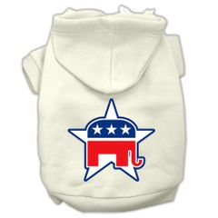 Dog Hoodies: REPUBLICAN Screened Print Dog Hoodie Various Colors & Sizes by Mirage Pet Products USA