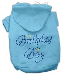 Dog Hoodies: Cute Rhinestone BIRTHDAY BOY Dog Hoodie by Mirage Pet Products USA