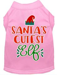 Dog Shirts: Christmas Screen Print Dog Shirt in Various Colors & Sizes by MiragePetProducts - SANTA'S CUTEST ELF