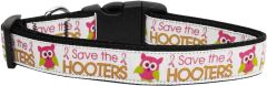 Dog Collars: Nylon Ribbon Collar by Mirage Pet Products USA - SAVE THE HOOTERS