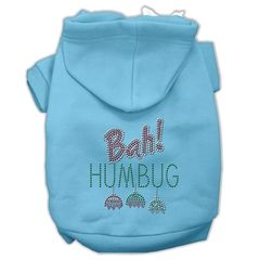 Dog Hoodies: Rhinestone BAH! HUMBUG Dog Hoodie by Mirage Pet Products USA