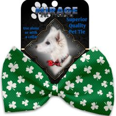 DOG BOW TIE: Decorative & Classy Silky Polyester Bow Tie for Dogs - SHAMROCK