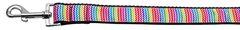 Nylon Dog Leashes: Zigzaggy Rainbow Nylon Dog Leash Mirage Pet Products USA