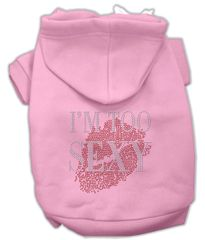 Dog Hoodies: I'M TOO SEXY Rhinestone Dog Hoodie by Mirage Pet Products USA