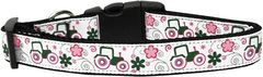 Dog Collars: Nylon Ribbon Collar by Mirage Pet Products USA - PINK TRACTORS