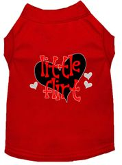 Dog Shirts: Valentine Screen Print Dog Shirt in Various Colors & Sizes by MiragePetProducts - LITTLE FLIRT