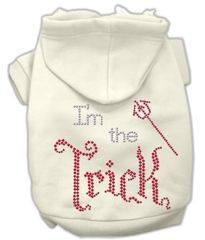 Dog Hoodies: I'M THE TRICK Rhinestone Dog Hoodie by Mirage Pet Products USA