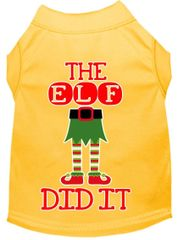 Dog Shirts: Christmas Screen Print Dog Shirt in Various Colors & Sizes by MiragePetProducts - THE ELF DID IT