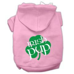 Dog Hoodies: IRISH PUP Screen Print Dog Hoodie in Various Colors & Sizes by MiragePetProducts