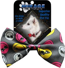 DOG BOW TIE: Decorative & Classy Silky Polyester Dog Tie with Durable Elastic Band - SMILEYS