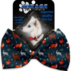 DOG BOW TIE: Decorative & Classy Silky Polyester Bow Tie for Dogs - FALL FRIENDS
