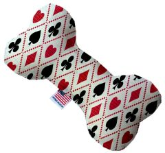 PET TOYS: Soft Durable Fabric or Canvas Bone Shape Pet Toy in 3 Sizes Made in USA by MiragePetProducts - DECK OF CARDS
