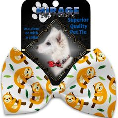 DOG BOW TIE: Decorative & Classy Silky Polyester Bow Tie for Dogs - SLEEPY SLOTHS