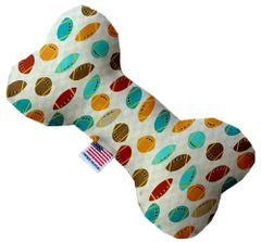 PET TOYS: Durable Fabric/Canvas Bone Shape Pet Toy FOOTBALL FRENZY in 3 Sizes Made in USA by MiragePetProducts
