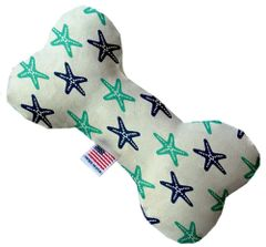 PET TOYS: Soft Durable Fabric or Canvas Bone Shape Pet Toy STARFISH in 3 Sizes Made in USA by MiragePetProducts