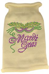 Dog Sweaters: Rhinestud MARDI GRAS Acrylic Knit Dog Sweater in Variety of Colors & Sizes - Mirage