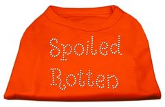 Dog Shirts: SPOILED ROTTEN Rhinestone Dog Shirt in Various Colors & Sizes by Mirage