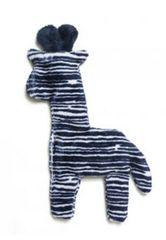 "Dog Toys: Unstuffed 8.5"" Tall Mini Floppy Giraffe Shape Dog Toy with Squeaker"