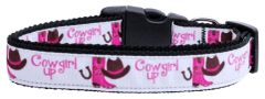 Dog Collars: Nylon Ribbon dog collar by Mirage Pet Products USA - COWGIRL UP