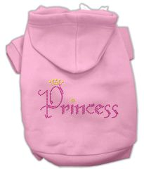 Dog Hoodies: Rhinestone PRINCESS Dog Hoodie by Mirage Pet Products USA