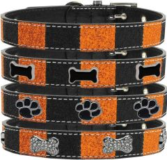 DOG COLLARS: Halloween Ice Cream Widget Dog Collar In Different Halloween Designs by MIrage USA Made