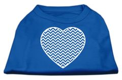 Dog Shirts: CHEVRON HEART Screen Print Dog Shirt in Various Colors & Sizes by Mirage