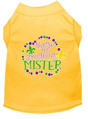 Dog Shirts: Dog Shirt Screen Print in Various Colors & Sizes by MiragePetProducts - THROW ME SOMETHING MISTER