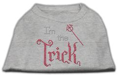 Dog Shirts: I'M THE TRICK Rhinestone Dog Shirt in Various Colors & Sizes by Mirage