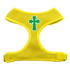 Dog Harnesses: Screen Print - CELTIC CROSS Soft Mesh Dog Harness in Several Sizes & Colors USA