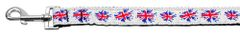 Nylon Dog Leashes: Graffiti Union Jack (UK Flag) Nylon Dog Leash Mirage Pet Products USA